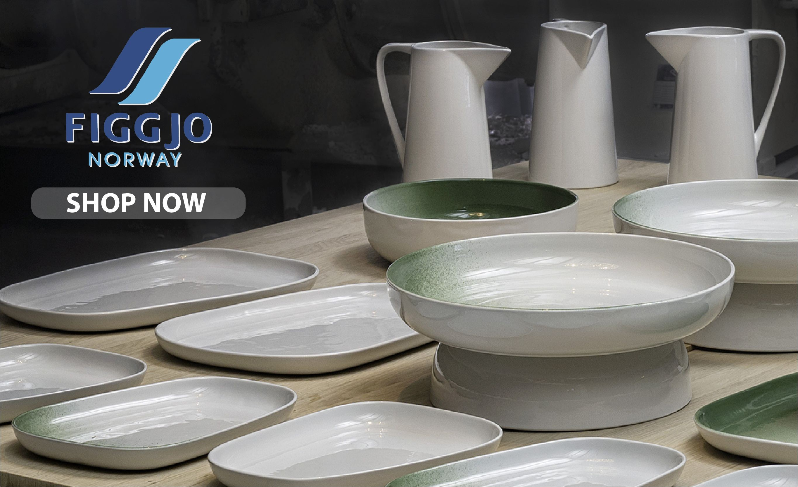 Shop Figgjo's uniquely shaped and simplistic dinnerware, which offers both everday functionality and style.
