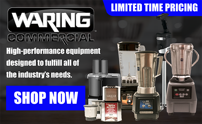 Shop Waring -- High performance equipment designed to fulfill all of the industry's needs.