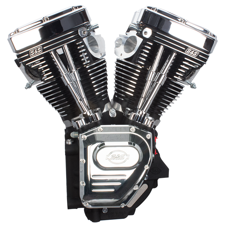 T143 Assembled Long Block Engine For 1999-'06 HD Big Twins (Except 2006  Dyna Models) - Wrinkle Black
