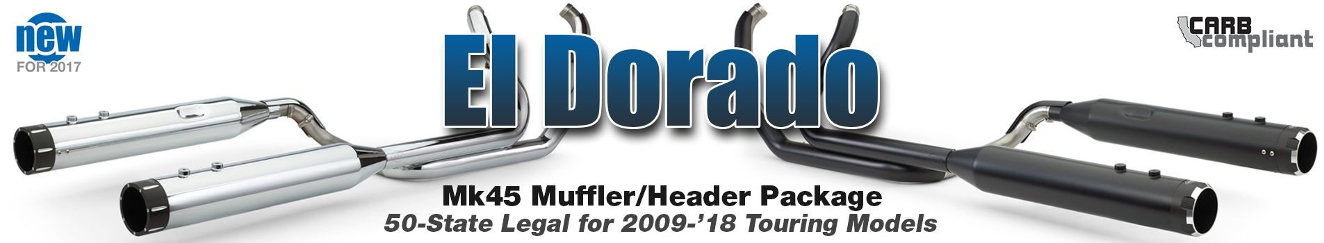 El Dorado 50-State Legal Exhaust Systems for 2009-'16 Touring