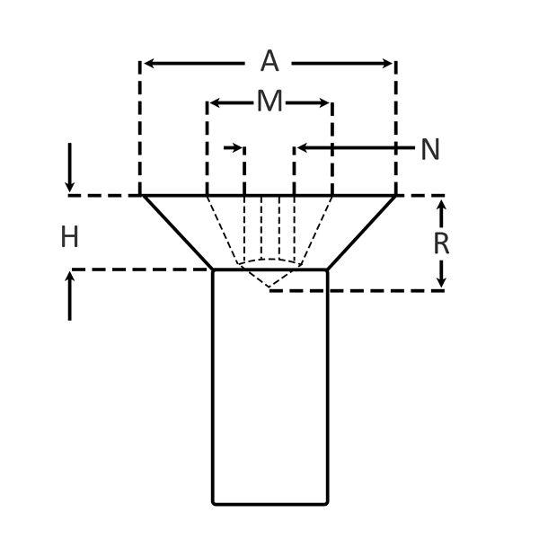 Slotted Flat Head for Machine Screws dimensions