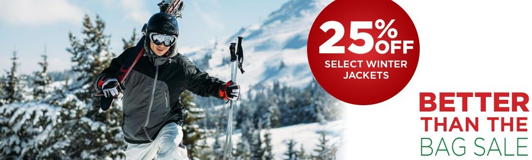 25% Off Select Winter Jackets