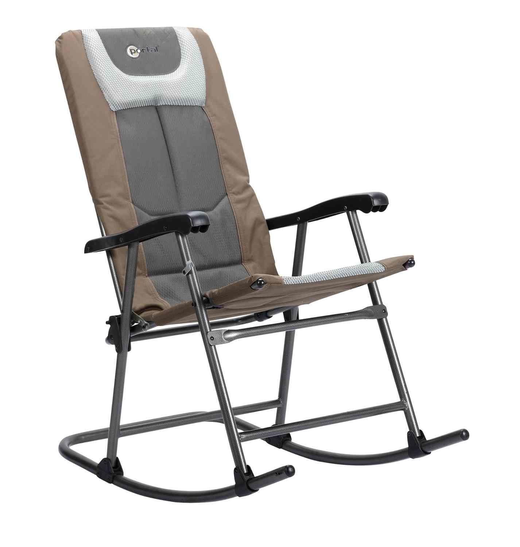 Padded Smooth Folding Rocking Chair