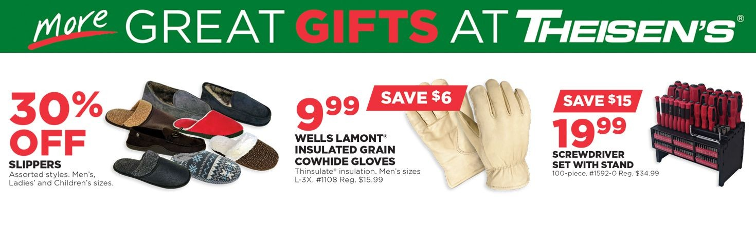 More Great Gifts at Theisen's