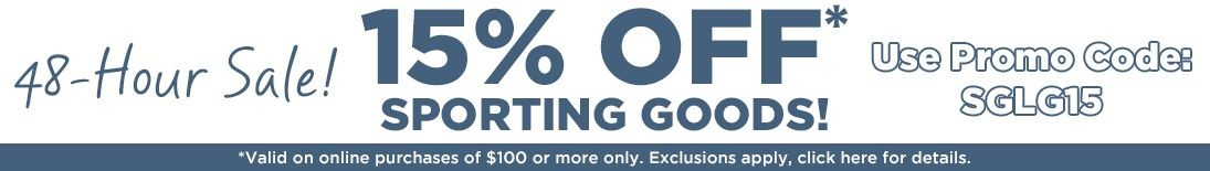 15% Off Sporting Goods