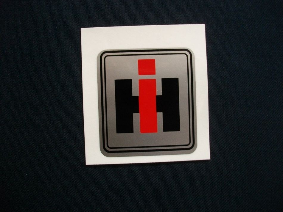 International Harvester Logo >> International Harvester Logo Silver Background 2 X 2 1 4 Decal