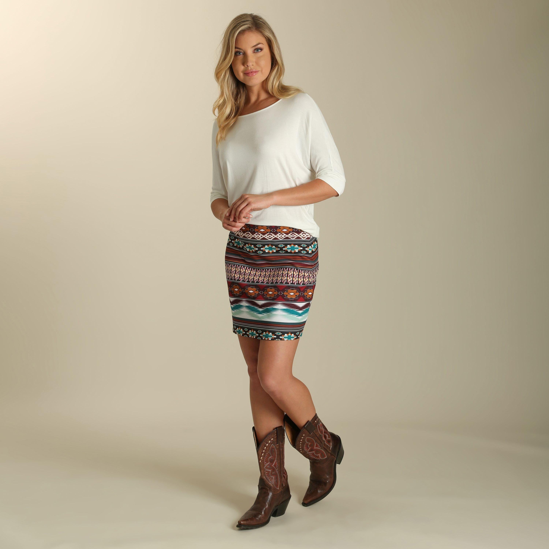 Aztec Ponte Mini Skirt  374464140