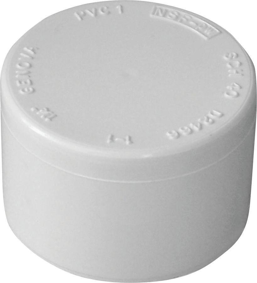 Series 30157 Pipe Cap, 3/4 In Slip Joint, White