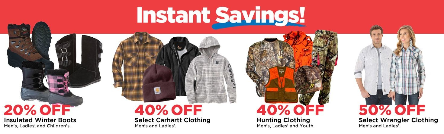 Apparel Instant Savings