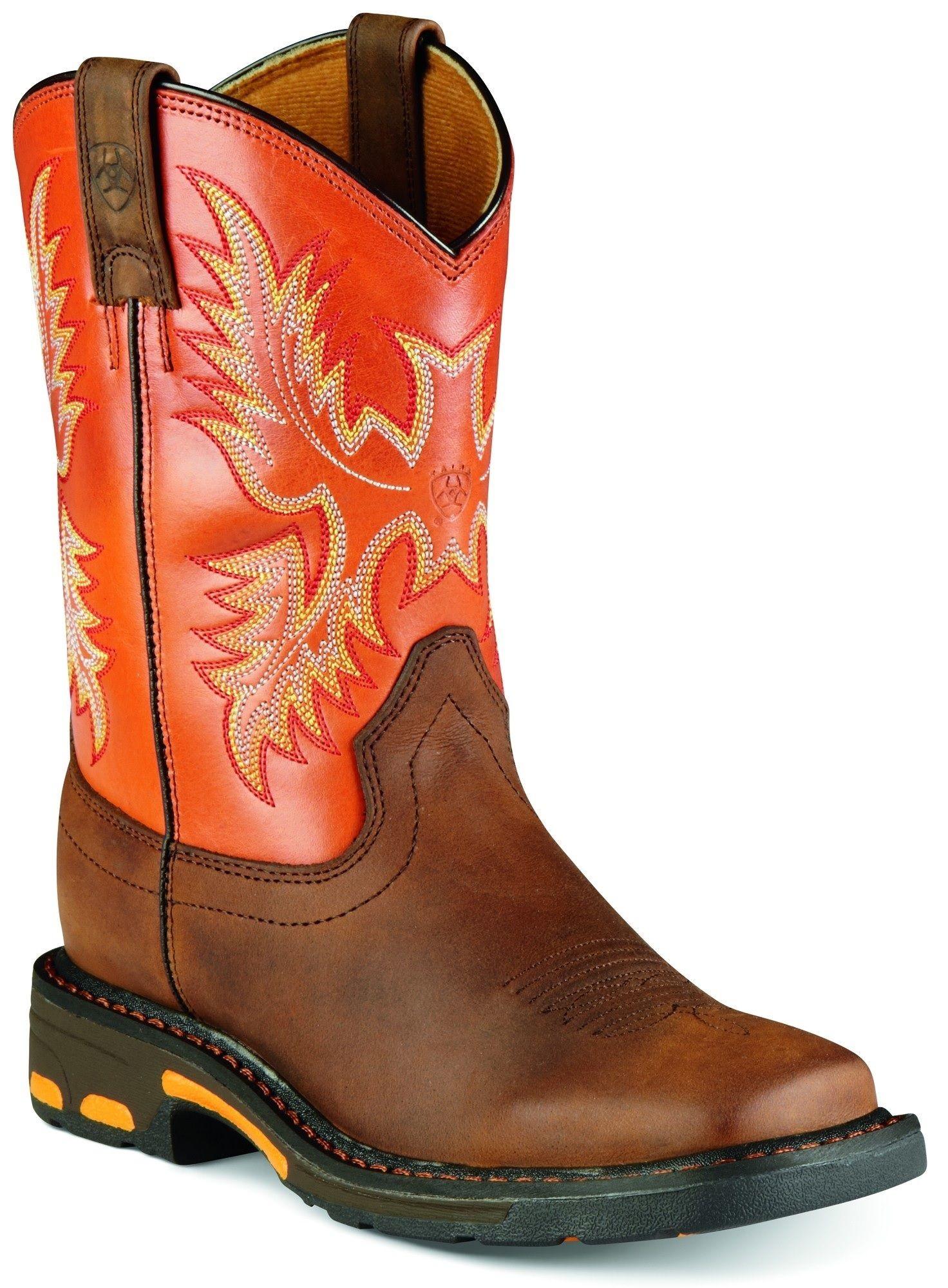 Boys' Workhog Pull-On Square Toe Cowboy