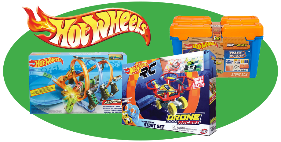 Hot Wheels Hobbys Hot Wheels Remote Control Drone Racerz Triple Threat Stunt Playset