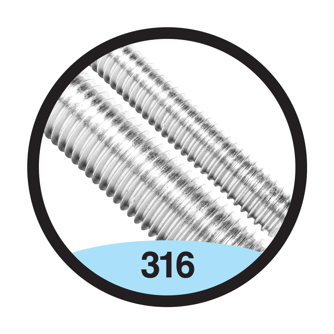 316 Stainless Threaded Rod