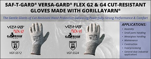 Saf-T-Gard® Versa-Gard Flex® G2 & G4 Cut-Resistant Gloves Made with GorillaYarn®