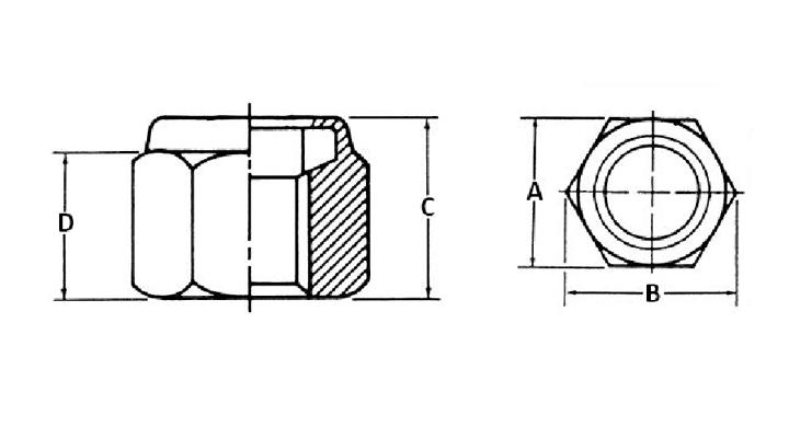 Nylon insert locknut dimensions