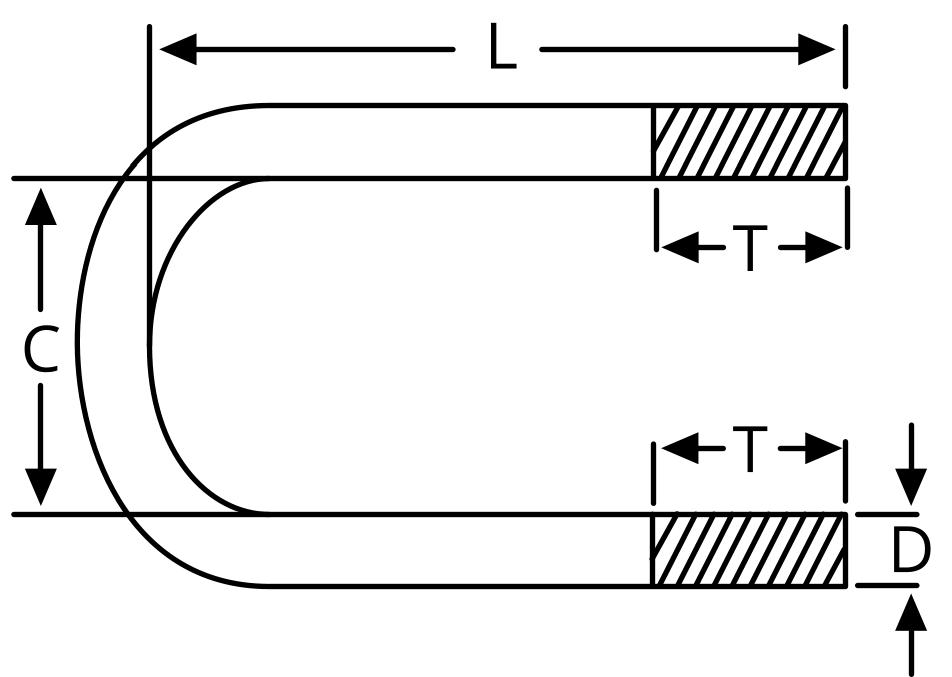 U-Bolt dimensions