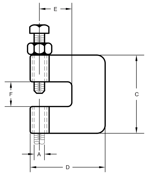 Figure 95 C-Clamp With Lock Nut