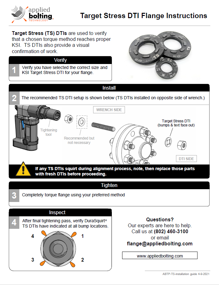 DuraSquirt Target Stress DTI Installation Instructions Page 1