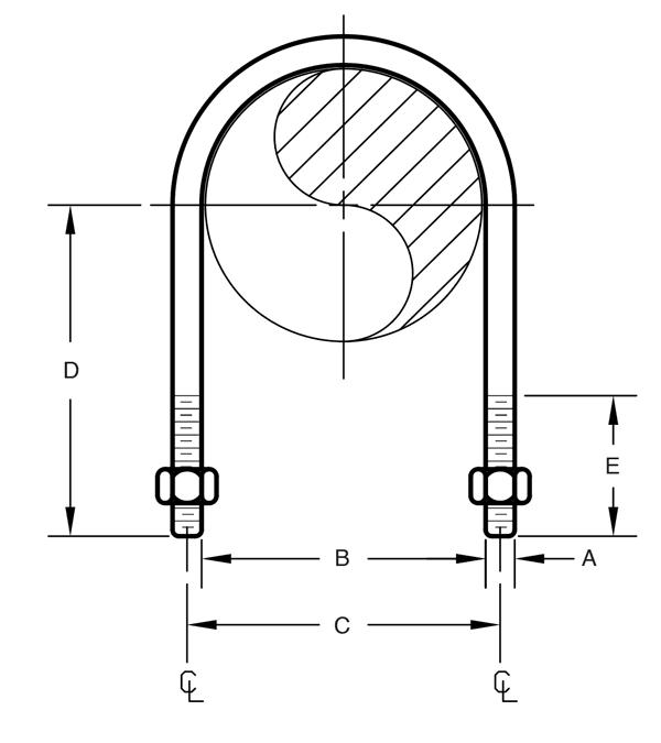 Figure 120 Standard U-Bolt