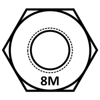 Grade 8M Stainless Steel Head Marking