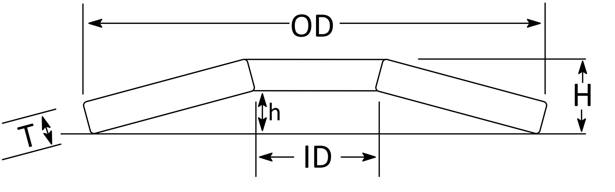 Phosphor Bronze Belleville Washer dimensions