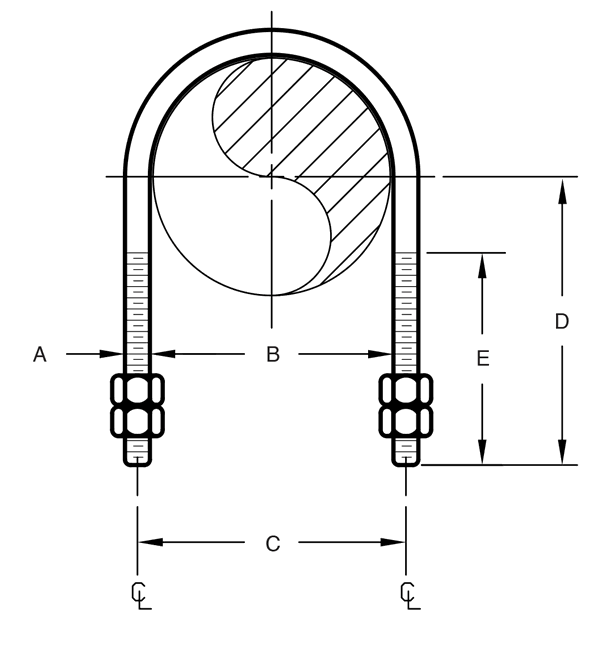 Figure 137 Long Tangent U-Bolt