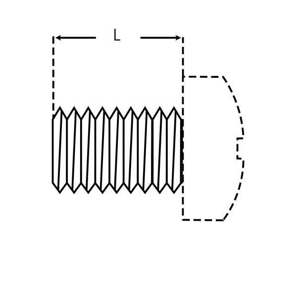 Type 2A Threads for Machine Screws dimensions