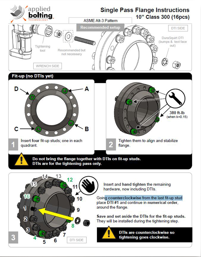 DuraSquirt Single Pass Flange System Installation Instructions Page 1