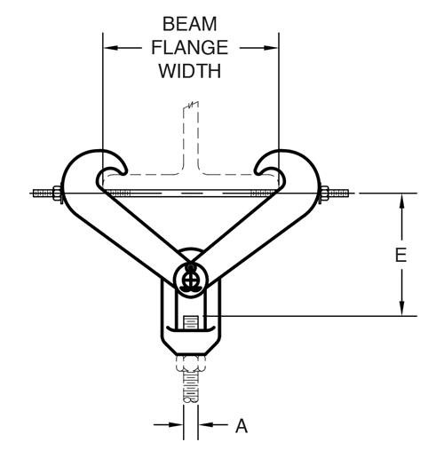 Figure 292 Beam Clamp with Eye Nut