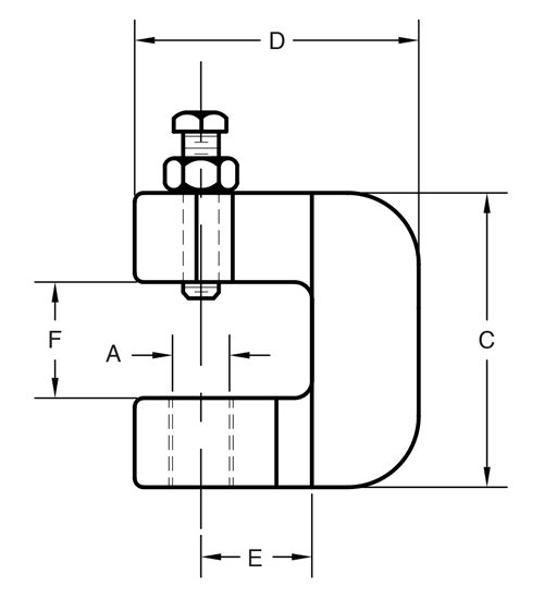 Figure 86 C-Clamp with Lock Nut
