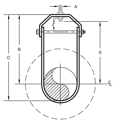 Figure 300 Elongated Clevis Hanger