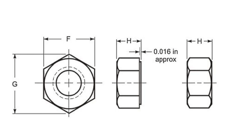 Heavy hex nut dimensions