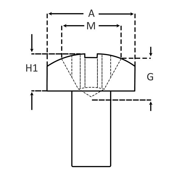 Phillips Pan Head for Machine Screws dimensions