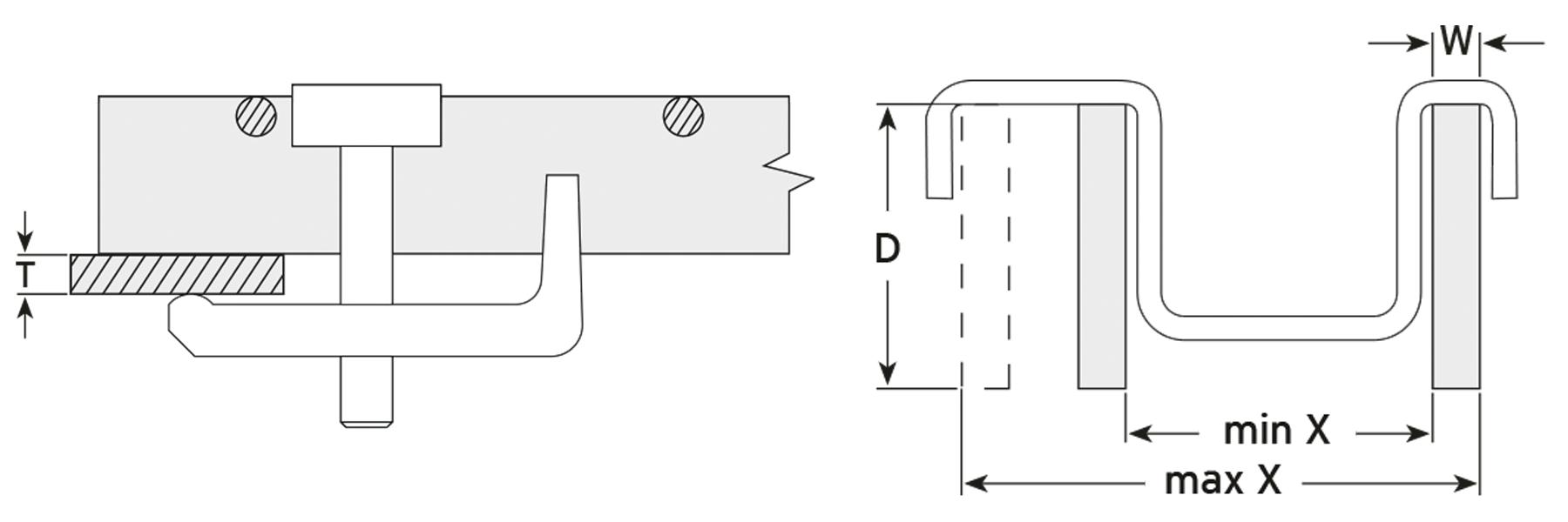 Lindapter GF Clip Installation Drawing