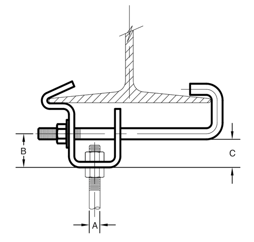 Figure 14 Adjustable Side Beam Clamp