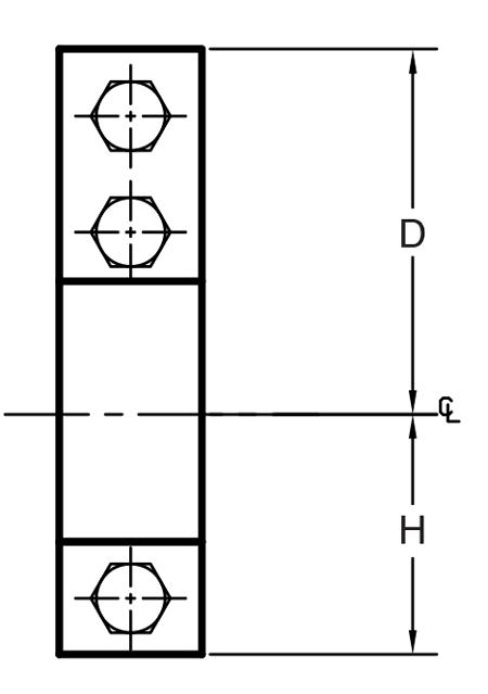 Figure 295 Three Bolt Pipe Clamp