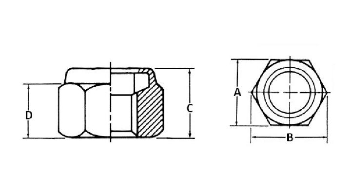 Nylon insert jam locknut dimensions
