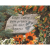 """Dogs Leave Paw Prints…"" Memorial Stone With Paw Print"