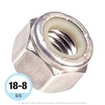 #12-24 Stainless Steel Nylon Insert Locknut 18-8