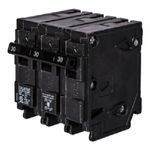 Siemens Q31500S01 Q Series Low Voltage Molded Case Circuit Breaker With Insta-Wire, 120/240 VAC, 15 A, 10 kA Interrupt, 3 Poles, Thermal Magnetic/Shunt Trip
