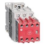 100S-C Safety Contactor, 12A, Line Side, 24V DC (w/Elec. Coil), 3 N.O., 0 N.O. 5 N.C., Bifuracated Contact
