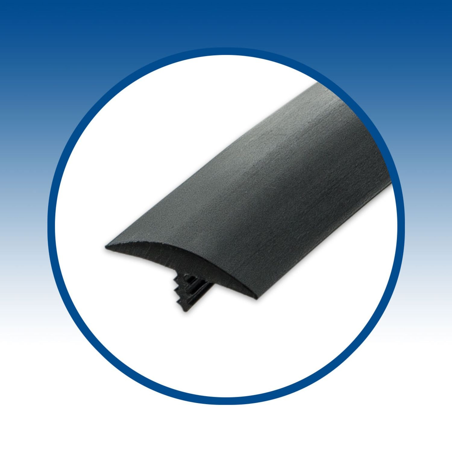 """T-Moulding Outwater Industries 25/' Black 3//4/"""" Cb Tee Moulding"""