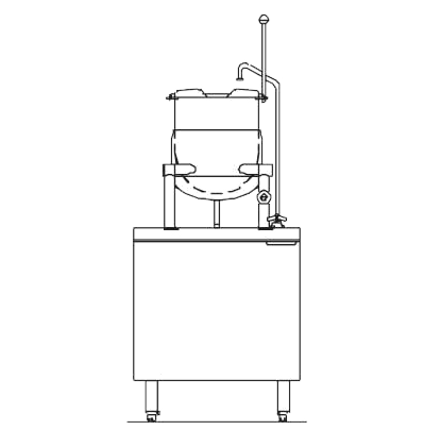 "Blodgett CB24D-10K Kettle/Stand Assembly, Direct-Steam, 24"" wide, (1) 10  gallon kettle, stainless steel exterior"