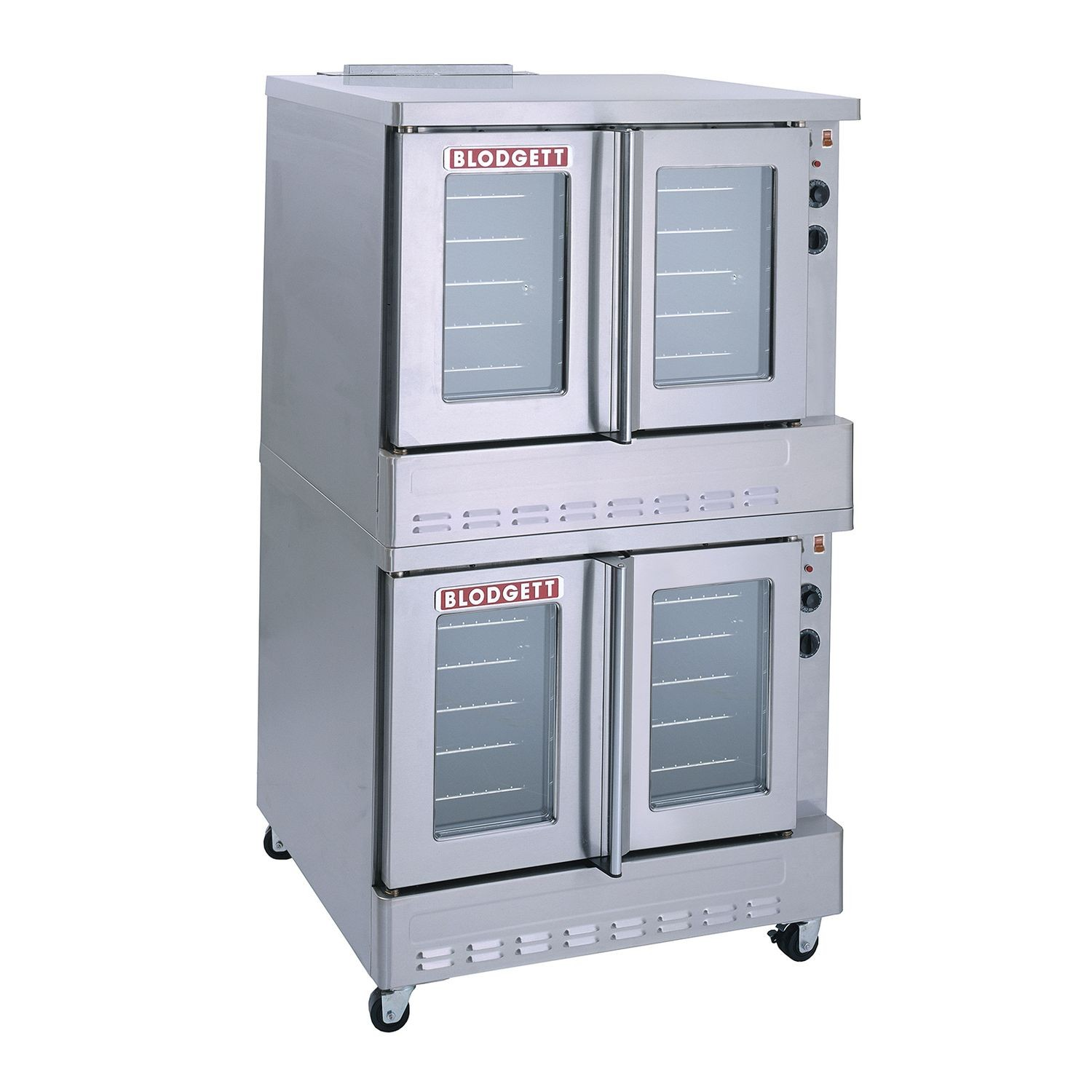 "Blodgett SHO-100-G DBL Convection Oven, Gas, double-deck, full size  capacity (10) 18"" x 26"" pans, (SSM) solid state manual controls, double  glass"
