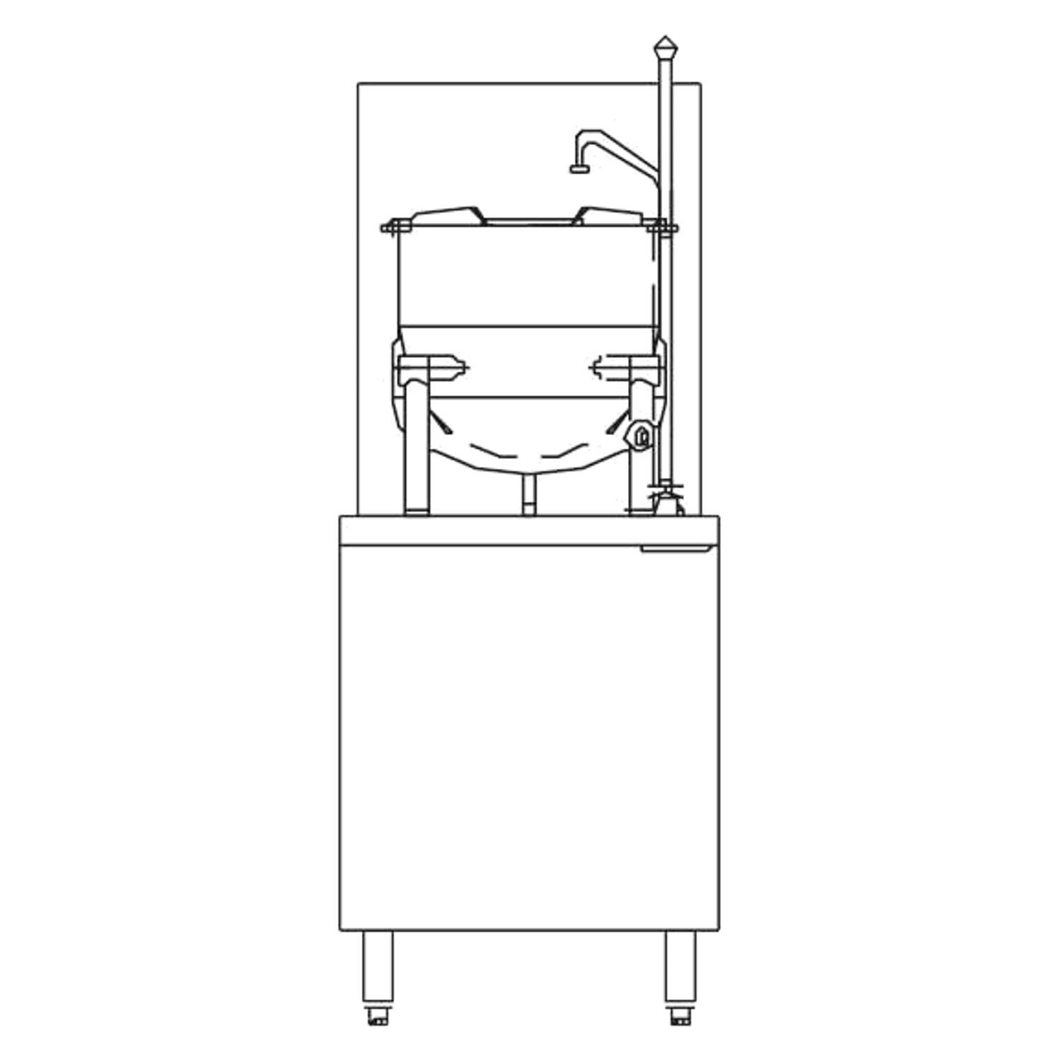 "Blodgett CB24G-6K Kettle/Stand Assembly, Gas, 24"" wide, (1) 6 gallon  kettle, stainless steel exterior"