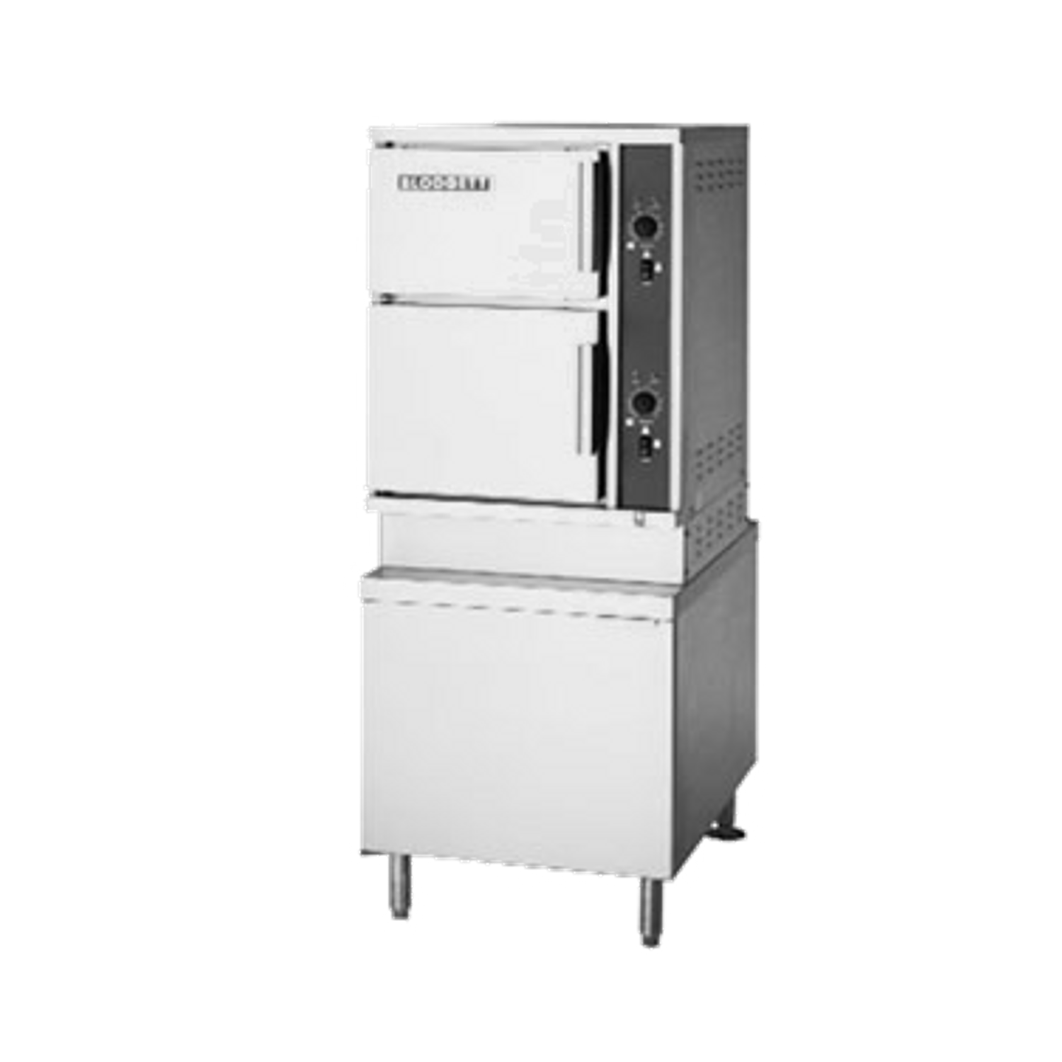 """Blodgett SC-10E Convection Steamer, Electric, (2) compartment, (5) 12"""" x  20"""" x 2-1/2"""" pan capacity each, individual manual compartment controls with"""