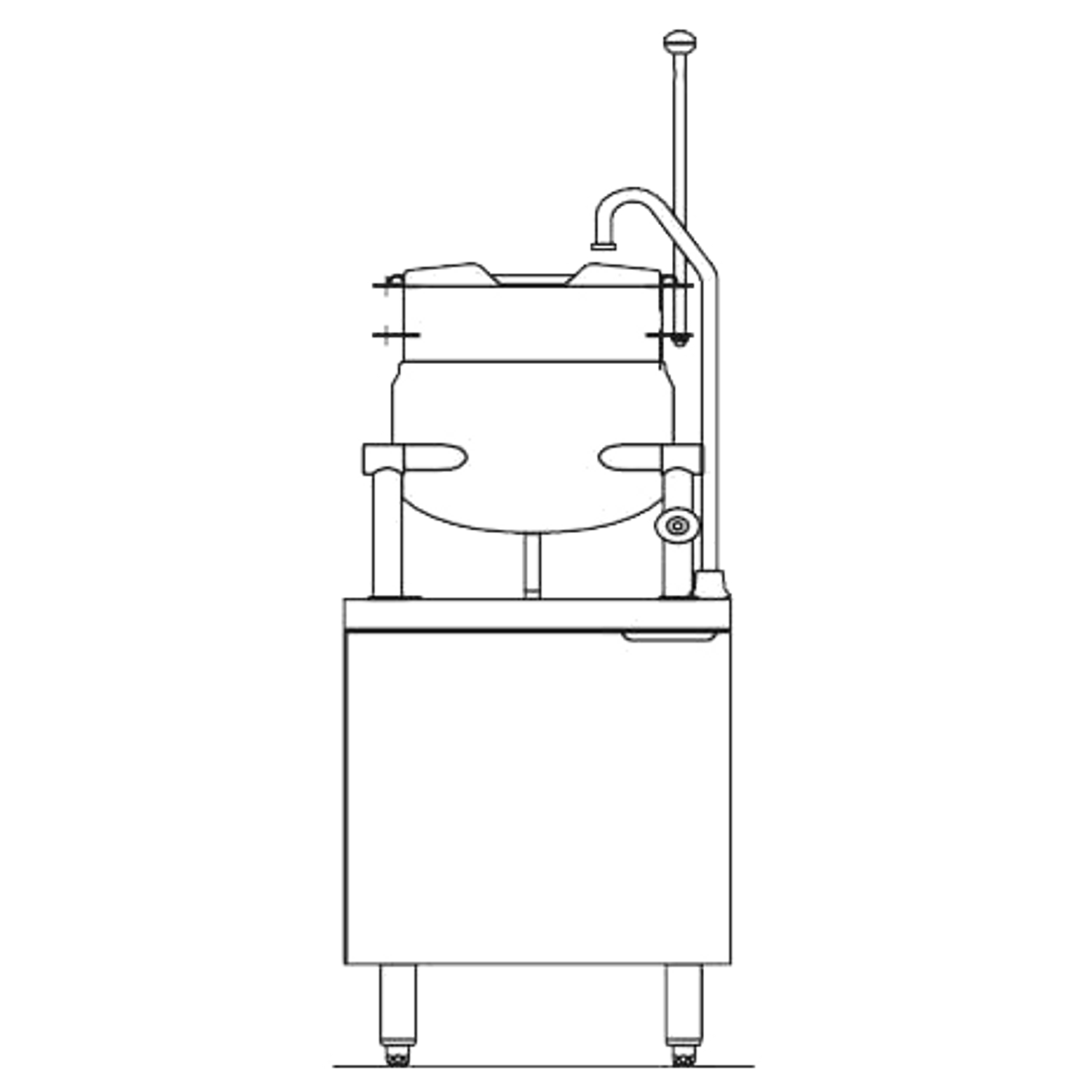 "Blodgett CB24E-6K Kettle/Stand Assembly, Electric, 24"" wide, (1) 6 gallon  kettle, stainless steel exterior"