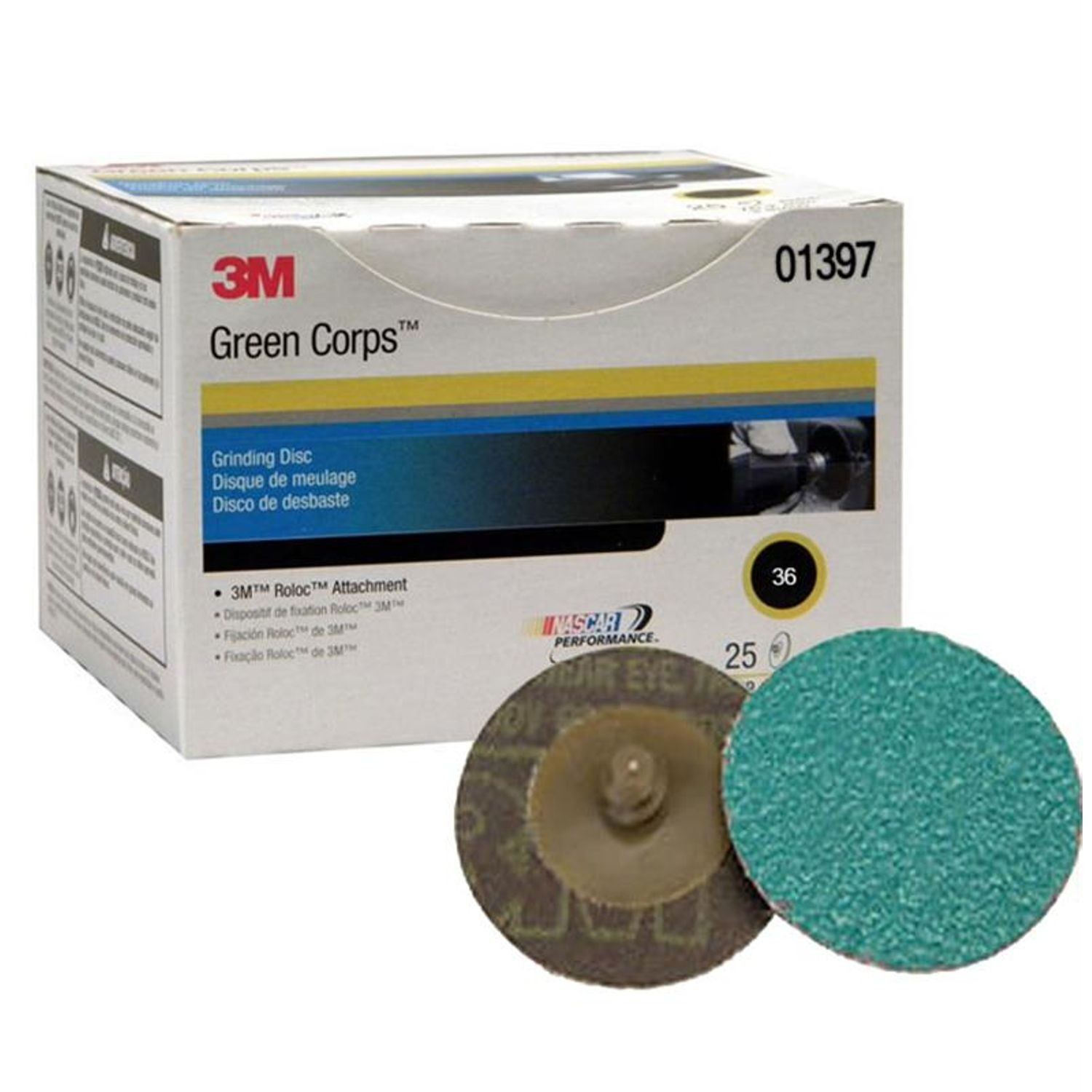 "2"" Green Corps Prep Disc 36 Grit - 25 Per Box"