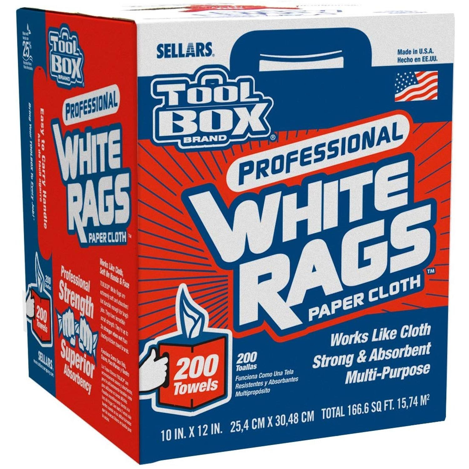 TOOLBOX Shop Wipes Center-Pull Box 200 Count