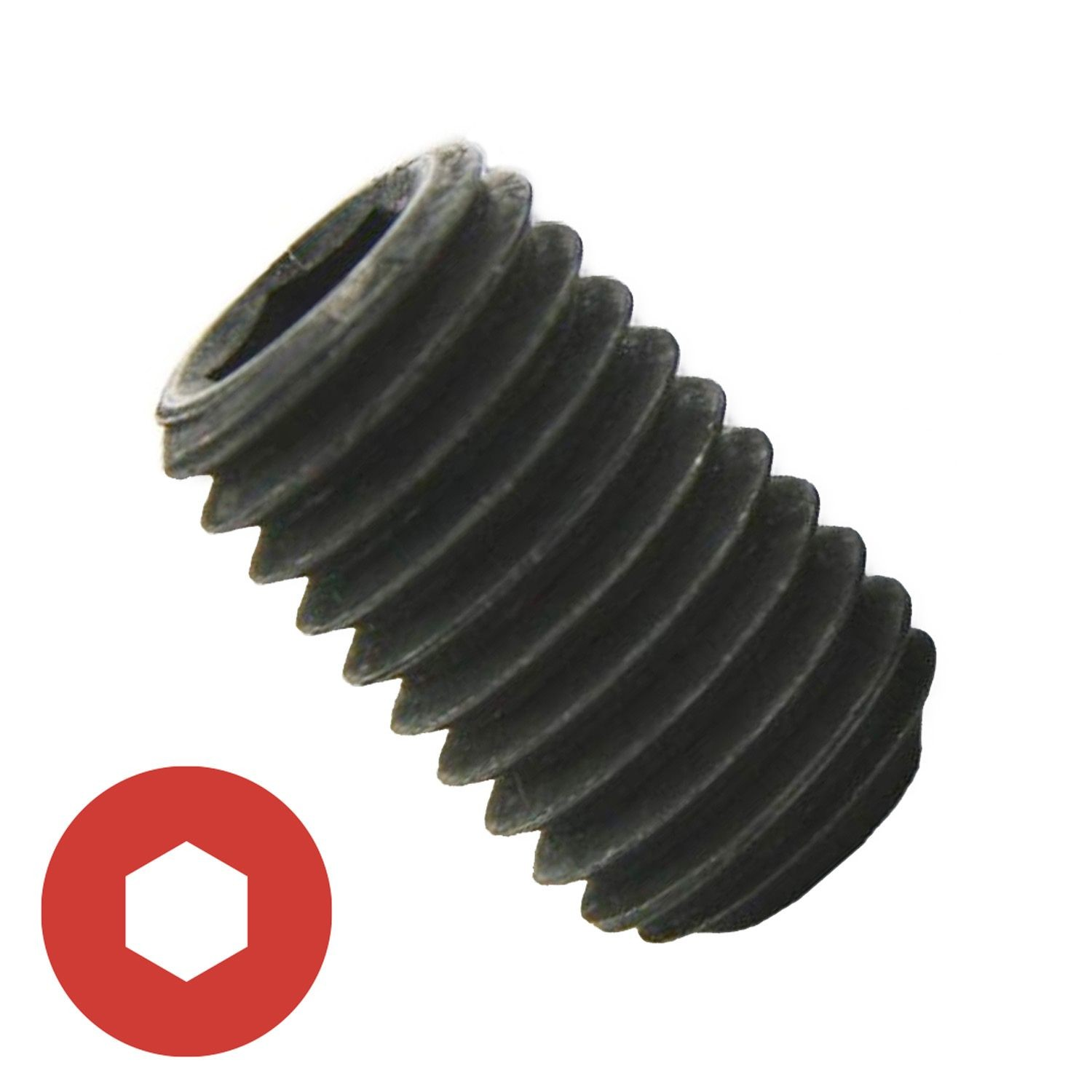 "#10-32 x 7/16"" Cup Point Socket Set Screw"