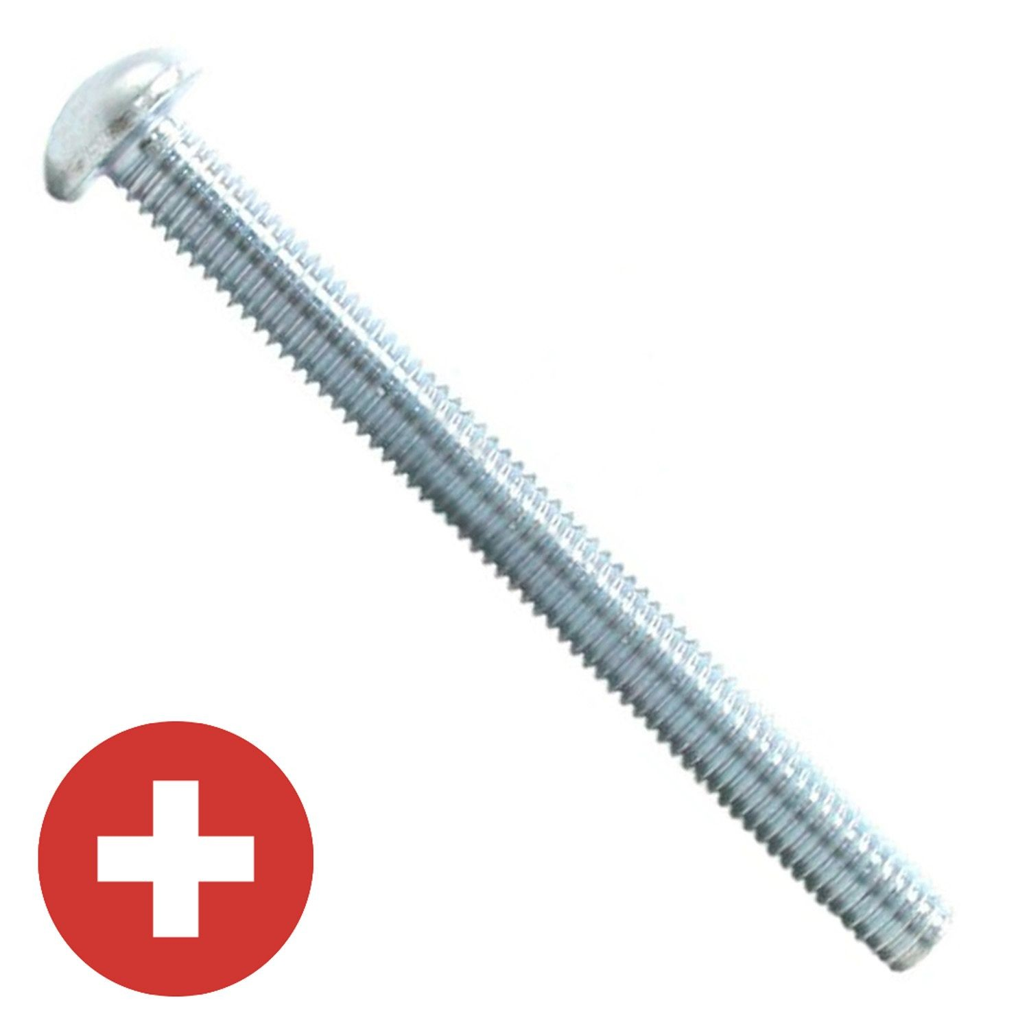 "#10-24 x 1"" Zinc Plated Phillips Round Head Machine Screw"